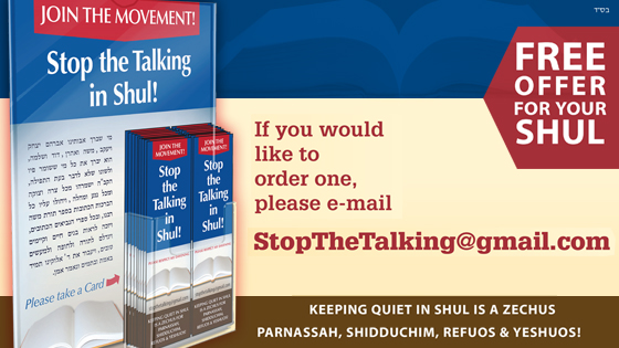 Free Offer for Your Shul from 'Stop the Talking'