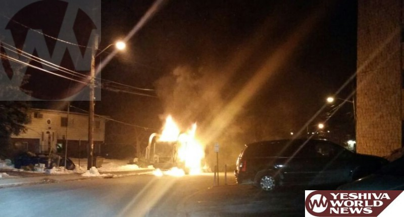Monsey: Garbage Truck Goes Up In Flames On Phyllis Terrace Overnight