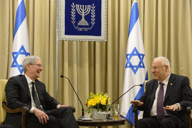 VIDEO: Apple CEO Tim Cook Visits President Rivlin's Residence