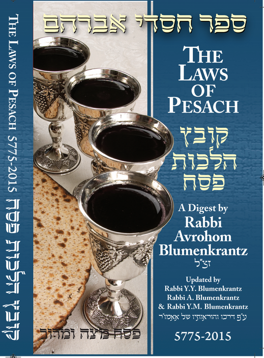 Rabbi Blumenkrantz's Pesach Digest 2015 Now Available in App Stores