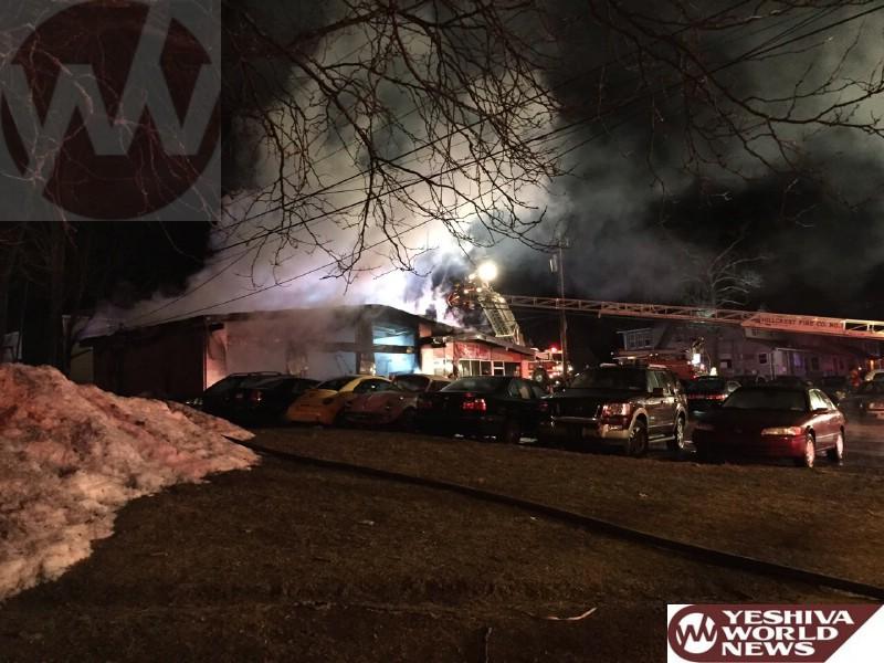 VIDEO: Fire Destroys 'Hillcrest Service Center' In Ramapo Near Spring Valley
