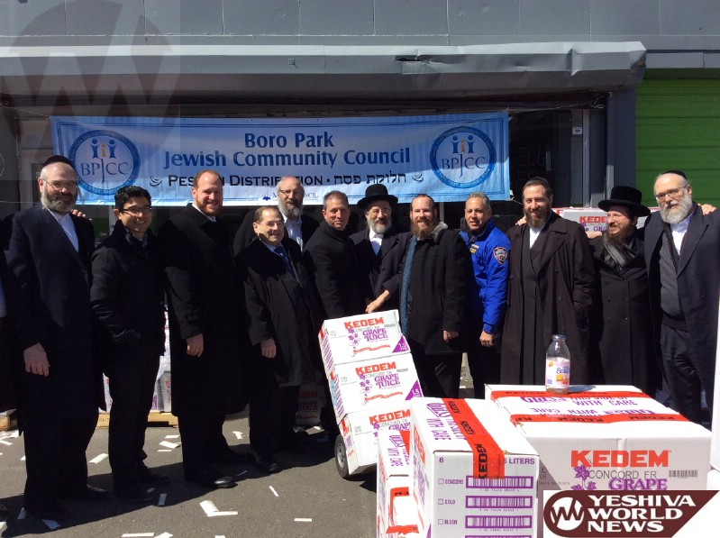 PHOTOS: Boro Park JCC Distributes Grape Juice For Pesach Joy