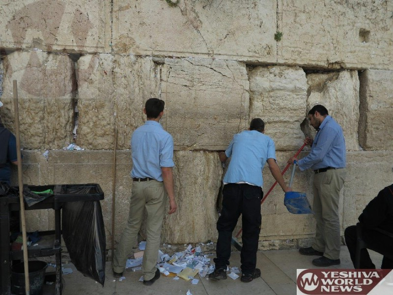 Photo Essay: Cleaning The Kosel For Pesach (Photos By JDN)