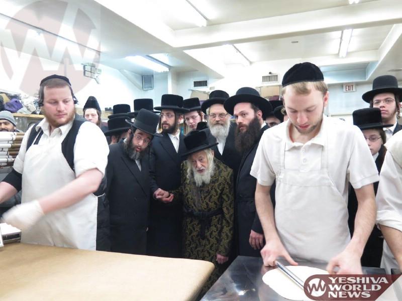 Photo Essay: Skulen Rebbe Baking Matzos (Photos By JDN)