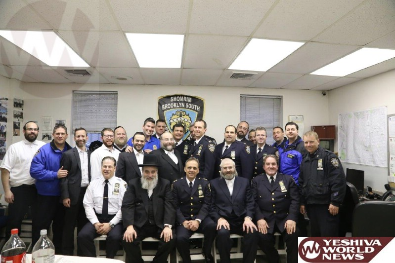 Photo Essay: New NYPD Chief Of Brooklyn South And New Commanding Officer Of 66 Pct Visit Boro Park Shomrim Headquarters (Photos By JDN)