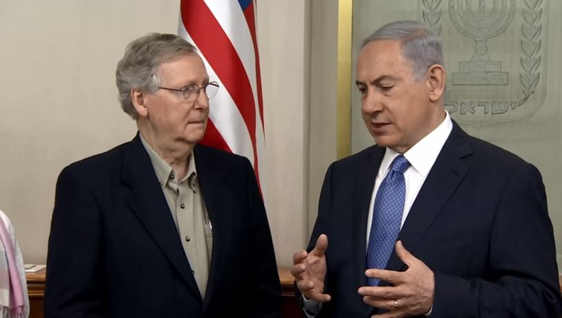 VIDEO: PM Netanyahu Meets with Delegation of US Senators Led by Majority Leader Mitch McConnell