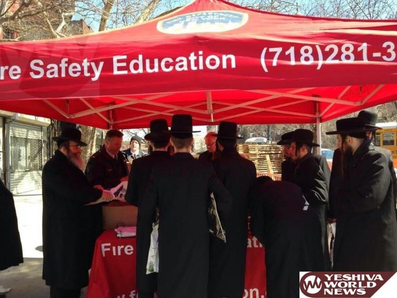 UJO of Williamsburg Thanks FDNY for Successful Smoke Detector Distribution in Williamsburg