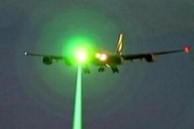 NYC: 4 Pilots Say A Green Laser Was Pointed At Their Planes