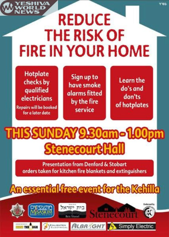 Manchester: Misaskim And Manchester Fire Rescue To Hold Fire Safety Event On Sunday