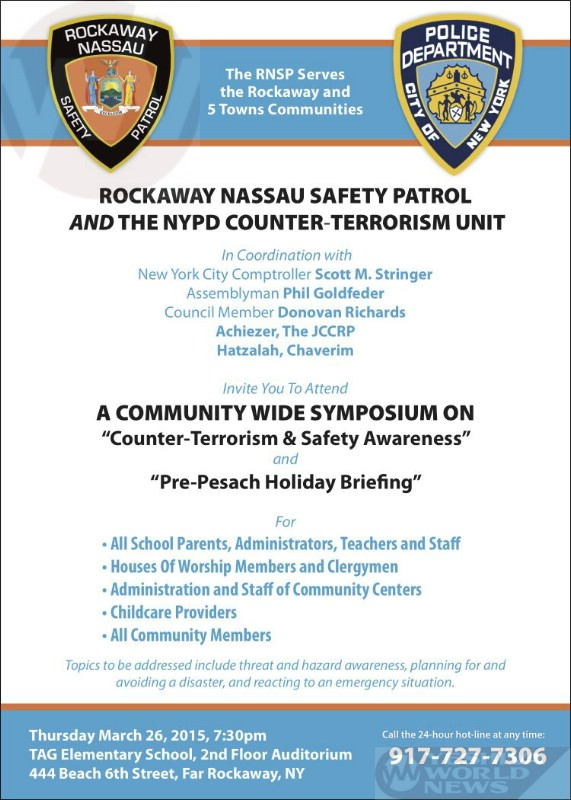TODAY- Far Rockaway: Community-Wide Symposium On Counter-Terrorism And Safety Awareness Event
