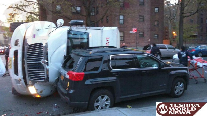 VIDEO AND PHOTOS: Driver Of NY Daily News Truck Killed In Early Morning Crash In Williamsburg