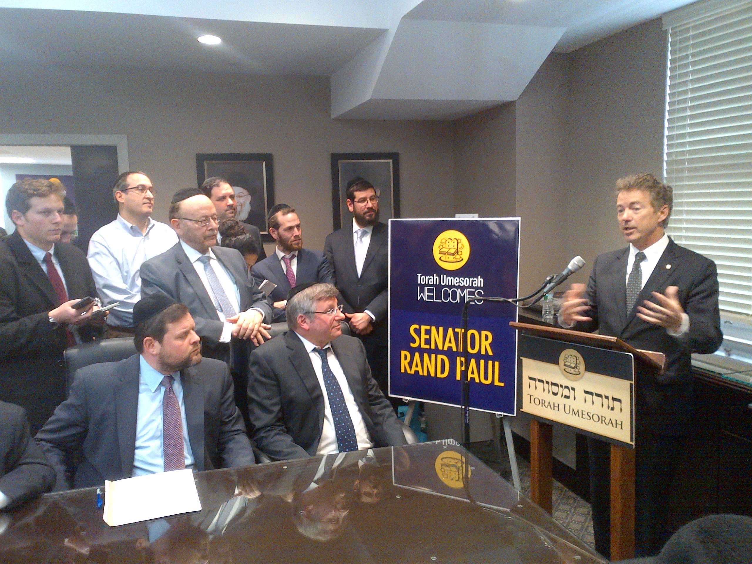 PHOTO: Presidential Candidate Rand Paul Visits Torah Umesorah Headquarters In Brooklyn