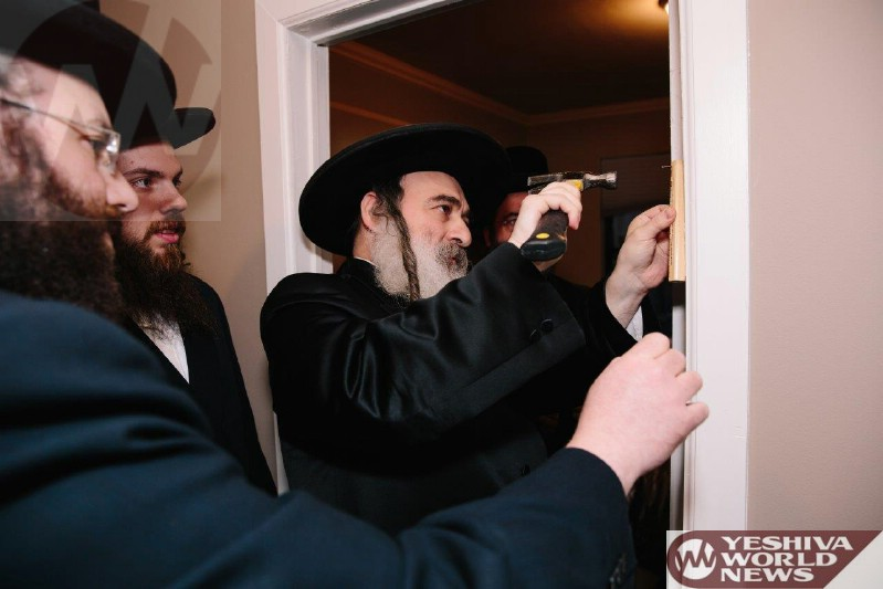 Photo Essay: Kevias Mezuzah in The New Chesed Room In Columbia Hospital (Photos By JDN)