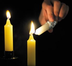 Lighting A Yartzeit Candle