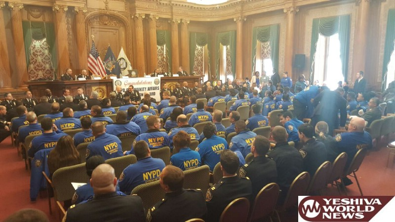 PHOTO: Brooklyn Boro President Honors All NYPD Community Affairs Officers In Brooklyn