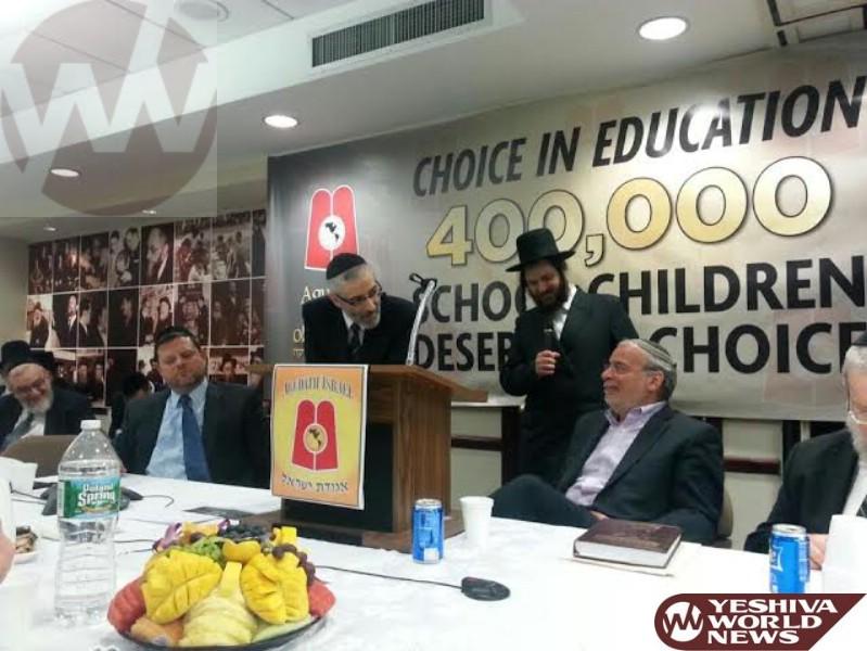 VIDEOS AND PHOTOS: Hikind Addresses Agudath Israel's  Emergency Tax Credit Meeting