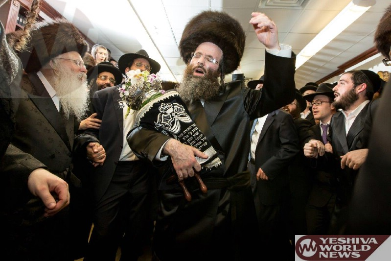 Photo Essay: Hachnosas Sefer Torah To The Beled Shul In Memory of The Beled Rov Given By Rav Yosef Yitzchok Schneider (Photos By JDN)