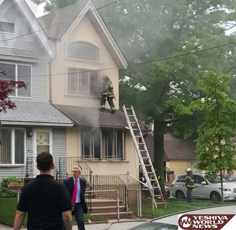PHOTOS: Fire In Private Home On Ave L And East 33 St At Noon On Thursday; No Injuries Reported (Photos By Hillel Engel)