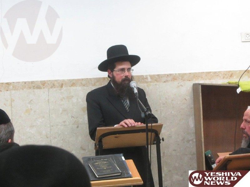 Photo Essay: Mir Rosh Yeshiva Giving a Shmooze For The Chasidish Bucherim in Yeshivas Mir in Preparation For Shavous (Photos By JDN)