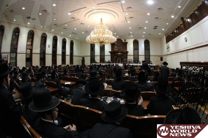 Photo Essay: Mesibah For Keren Hasheviis in The Satmar Shul in Monsey (Photos By JDN)