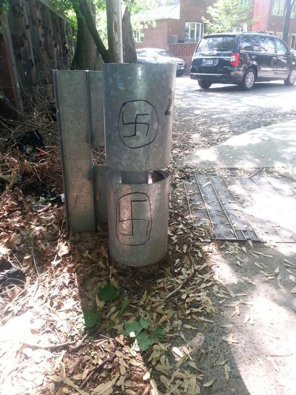 Swastikas Found Written On Guard Rail In Boro Park