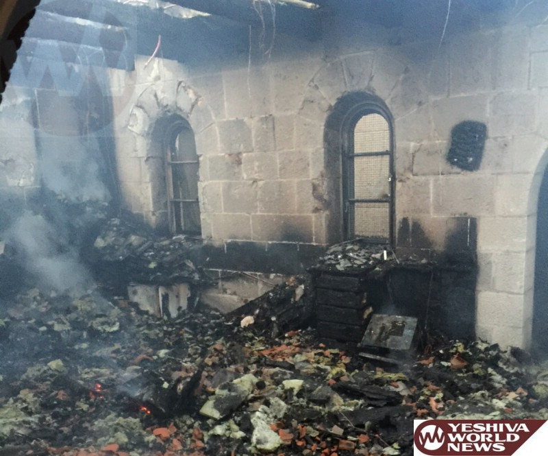PHOTOS: Arson in Church Fire Near the Kinneret