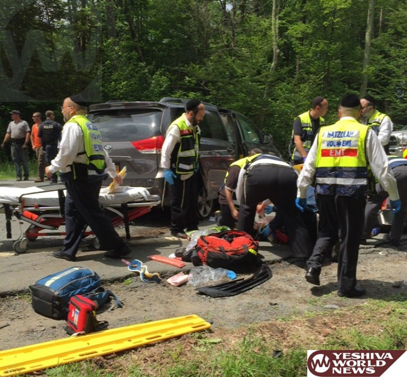 PHOTOS: Serious MVA On Route 42 In South Fallsburg - Two Choppers Requested To Airlift Victims [2:30PM]
