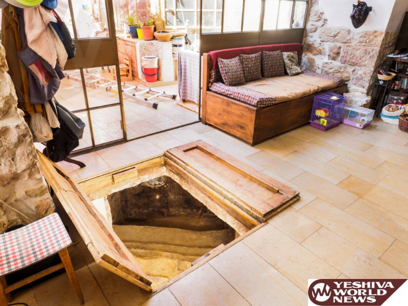 PHOTOS: A Two Thousand Year Old Secret Mikvah Below the Living Room Floor