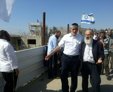 Eli Yishai Visits Beit El To Give Chizuk To Residents