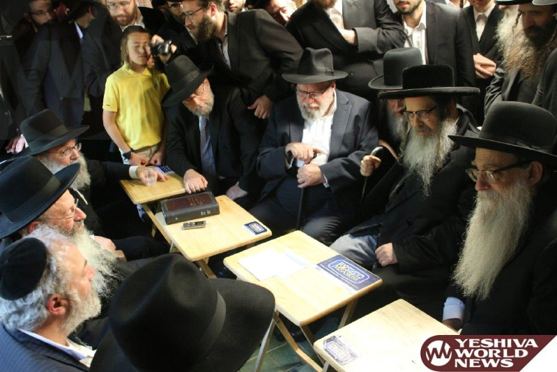 Photo Essay: Nichem Avelim By The Kotler Family Upon The Petira Of Rebbitzen Rishel Kotler (Photos By JDN)