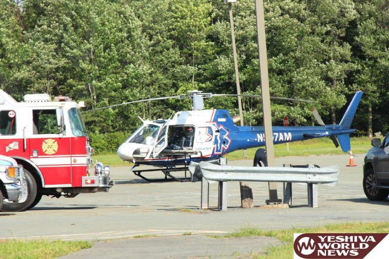PHOTOS: Child Airlifted On Friday Afternoon After Falling From A Height At Camp Shira (Vien) on Sacket Lake Road (Photos By JDN)