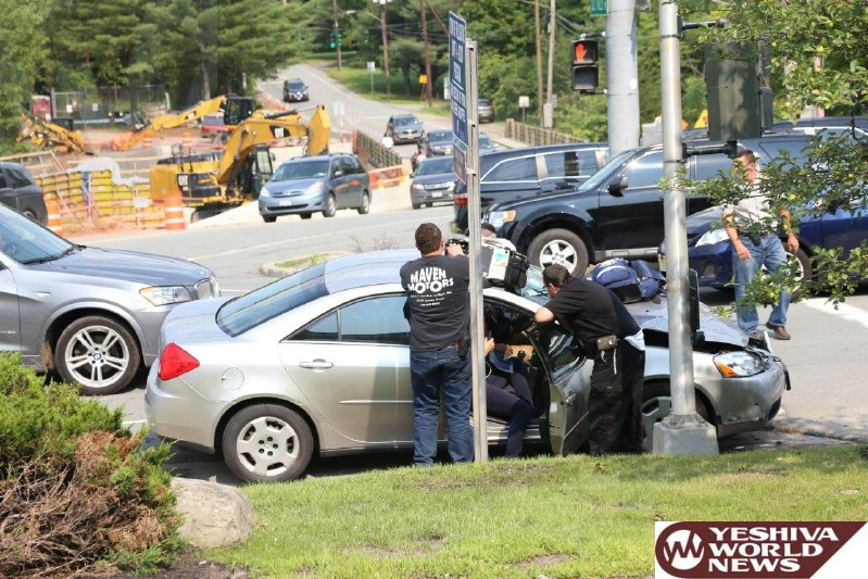 PHOTOS: MVA On Route 42 And Brickman Road In Fallsburg - 1 Person With Minor Injuries (Photos By JDN)