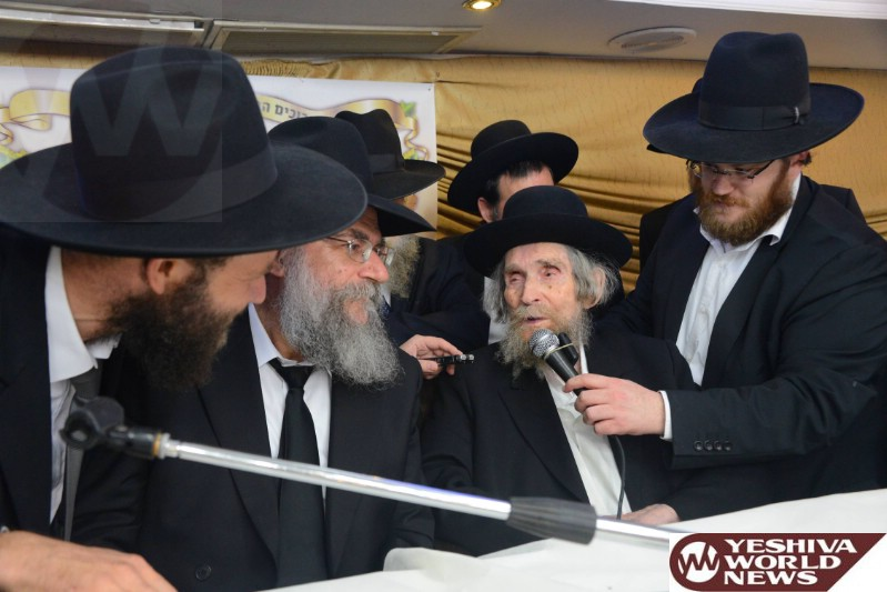 Photo Essay: Maran HaRav Sheteinman Attending Event Marking 20 Years Since Founding Of Yeshiva Derech Hatorah in Kiryat Sefer (Photos By JDN)