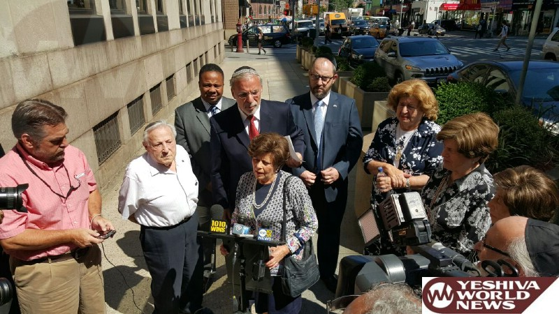 Holocaust Survivors Join Elected Officials to Oppose Iran Deal; Express Concerns about Dangerous Deal in Front of Congressman Jerrold Nadler's Office