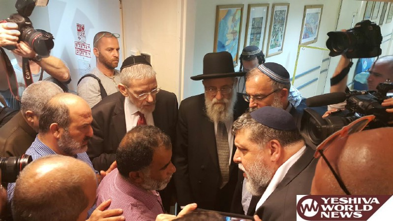 Tzohar Rabbonim Make a Joint Visit to Victims of Duma Arson Attack with Clerics of Other Religions