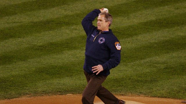 George W. Bush Nervous About Post-9/11 World Series Pitch