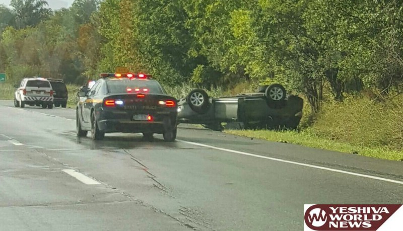 PHOTOS: Overturned Vehicle On Route 17 At Exit 122 On Wednesday Afternoon - 1 Injury Reported [6:00PM]