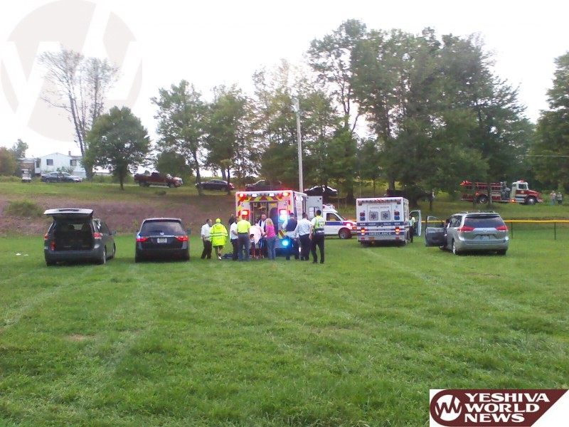 PHOTOS: Person Ejected From Vehicle After Losing Control, Going Down Embankment Into Camp Magen Av In Swan Lake