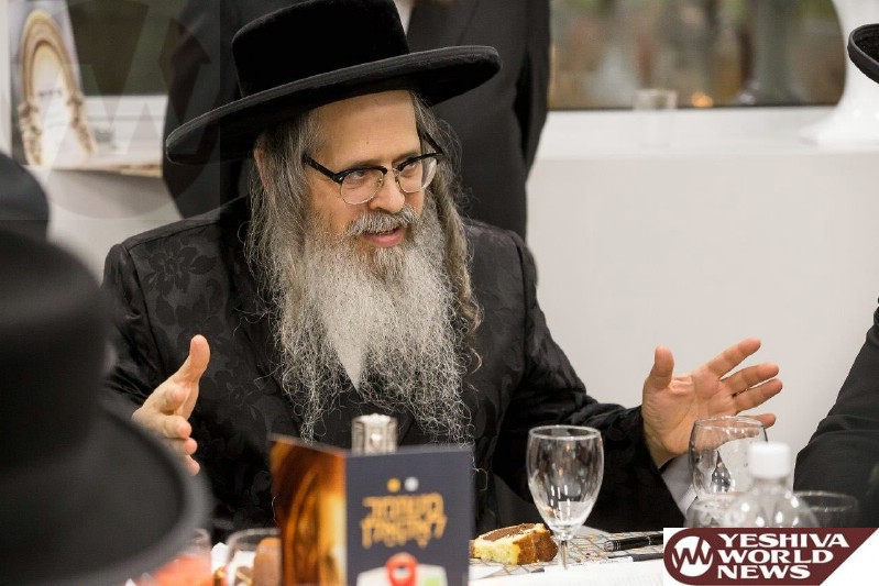 Photo Essay: Satmar Rebbe Putting up a Mezuza at the New 'Meshimer' Filtering Offices in Williamsburg (Photos By JDN)