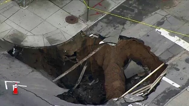 Brooklyn: Sinkhole Devours Large Part Of Intersection At 5 Ave And 64 Street; No Injuries