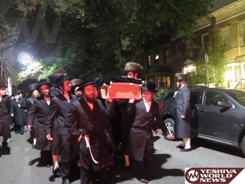 Photo Essay: Levayah of Rebbitzen Gittel Schwartz AH, Mother of the Brod Rov (Photos By JDN)