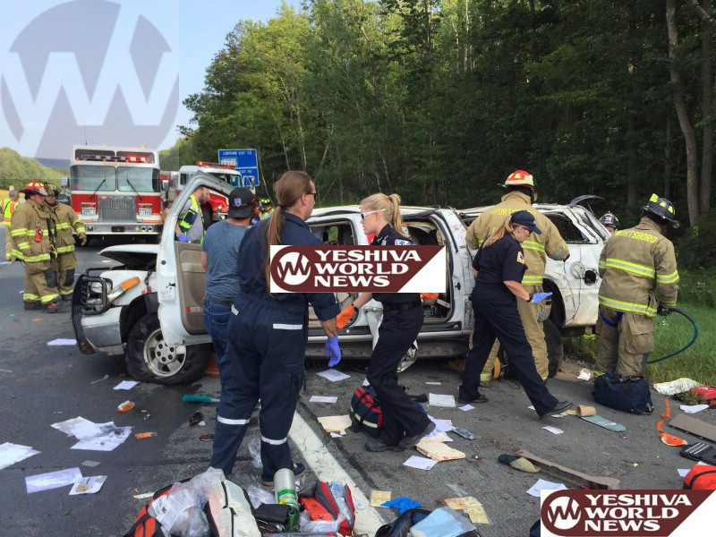 TRAGEDY IN THE CATSKILLS: Longtime Hatzolah Member, His Wife, And Future Son-In-Law Killed In Route 17 Crash - Others Critical