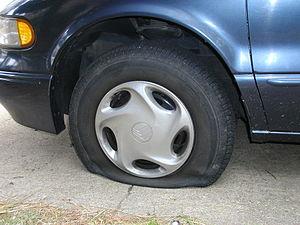 deflated tire