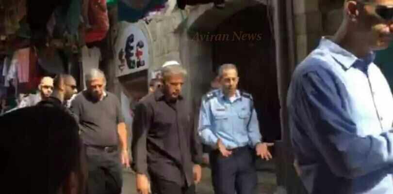 Yesh Atid Party Leader Yair Lapid Visits Jerusalem's Chaggai Street - Dons Yarmulka For Visit
