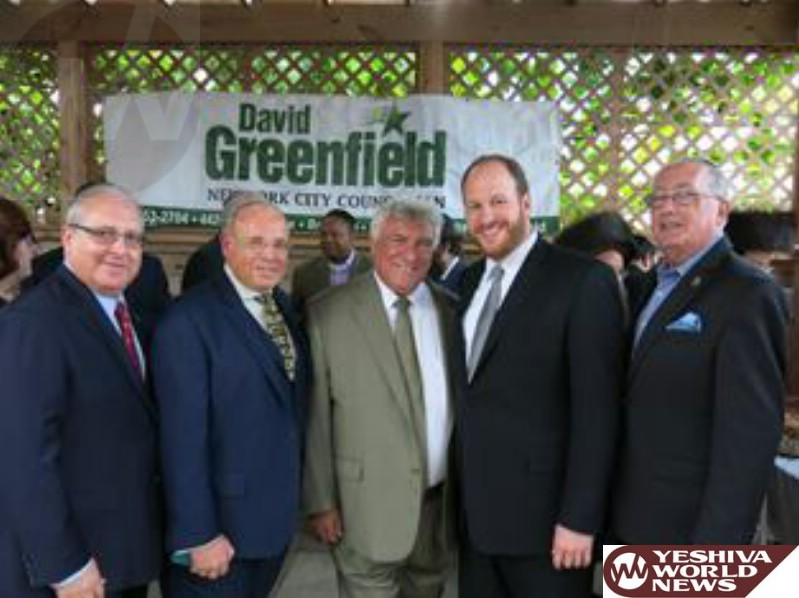 PHOTOS: Greenfield Welcomes Brooklyn Democratic Chairman Frank Seddio at Annual Sukkah Event