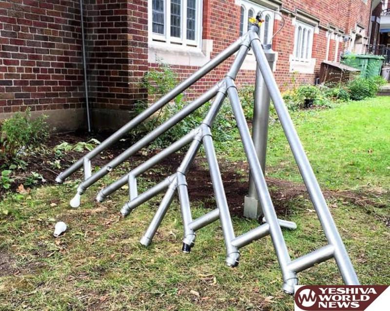 Montreal: Menorah Vandalized At Menorah Outside NDG Jewish Community Center