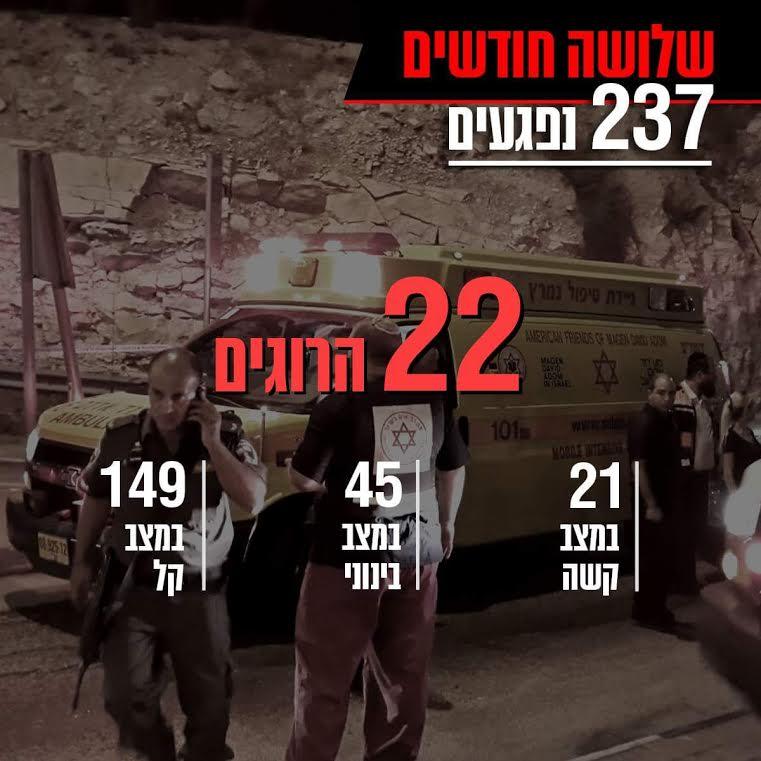 In Three Months, 22 Murdered, 237 Injured in Islamic Terror