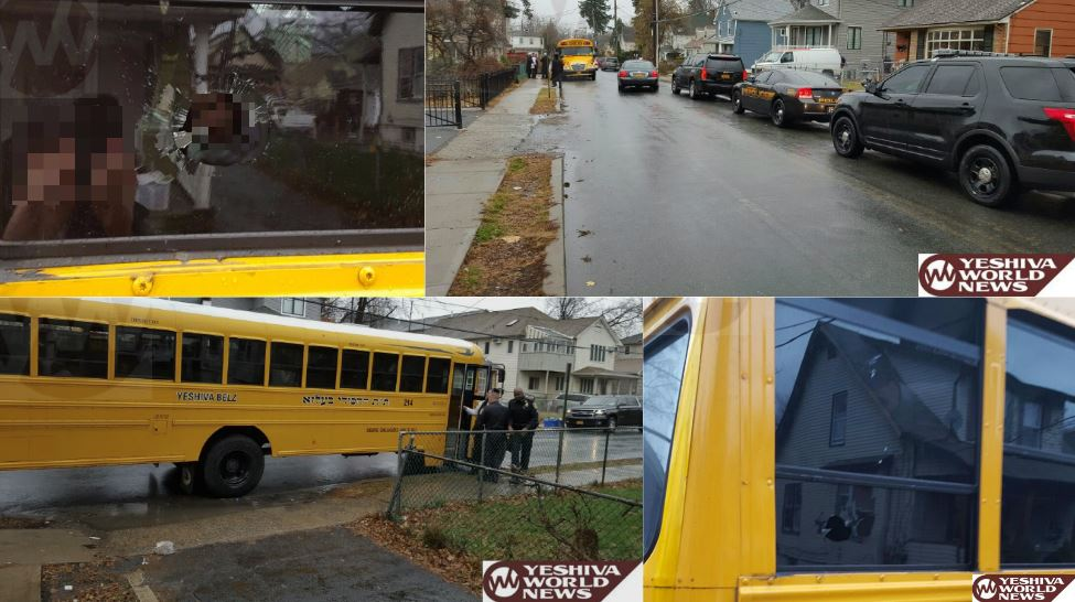 BREAKING: Rocks Thrown At Belzer Cheder Bus In Spring Valley; One Child Injured [PHOTOS]