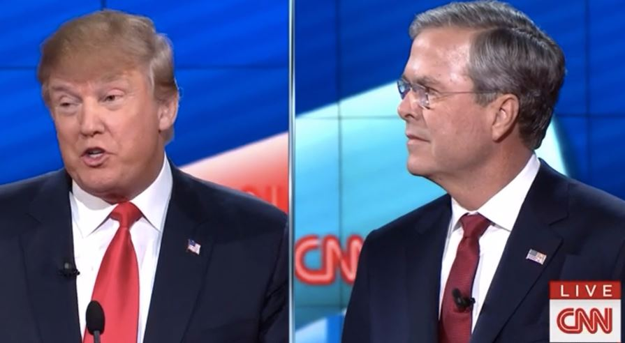 Presidential Material? Trump and Bush Call Each Other Names