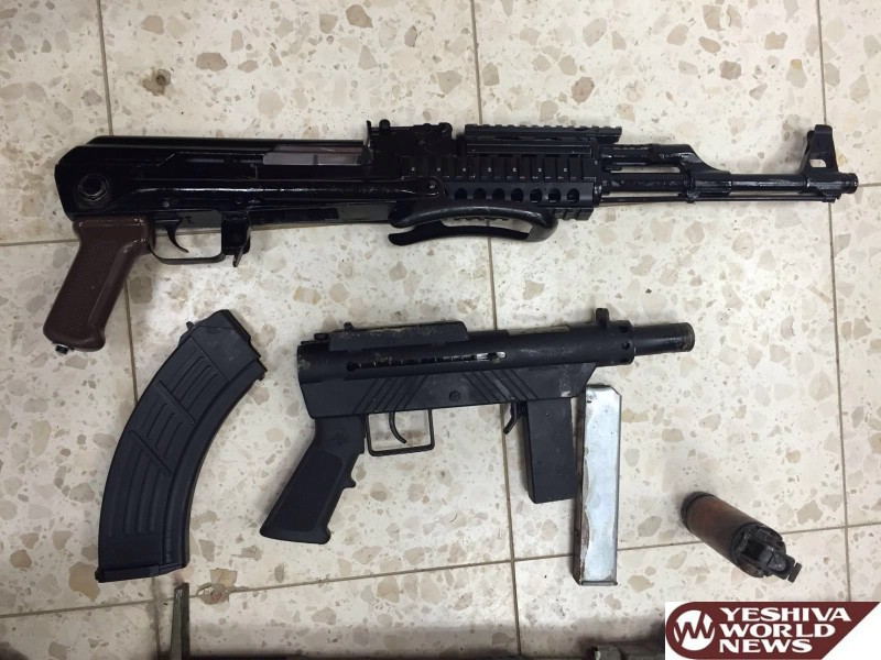 PHOTOS: Negev Police Intercept Automatic Weapons Heading from the PA to Israel